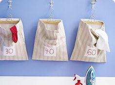 hanging washing baskets diy