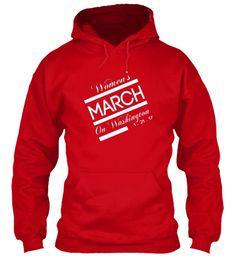 Women's March On Washington 1 . 21 . 17 Red Sweatshirt Front