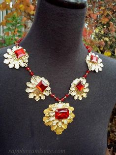 """The Tudors"" Showtime TV Series Catherine of Aragon Necklace www.sapphireandsage.com"