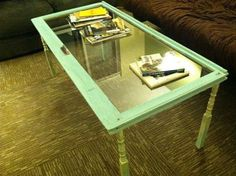 Repurposed Window Coffee Table. $80.00, via Etsy.