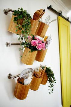 Pensez à l'organisation verticale pour aménager votre #cuisine