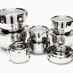 Airtight Stainless Steel Food Storage Containers from Onyx Containers in the Schooner Chandlery.