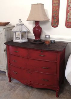Awesome Dresser redo with homemade chalk paint and glaze.