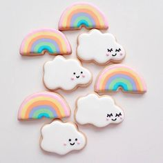 """culturenlifestyle: """"Colorful Sweets Resemble Adorable Cartoon Confections Passionate baker Tmaiya is a self-proclaimed lover of all things pretty, sweet, cute and colorful. She shares her irresistibly cute creations of cookies, cakes, donuts and. Hello Kitty Birthday, Unicorn Birthday Parties, Unicorn Party, Sugar Cookie Icing, Sugar Cookies, Kawaii Cookies, Rainbow Treats, Unicorn Cookies, Baby Boy Shower"""