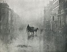 Hector Colard (1851 - 1923) Fine Day in London, 1896 photogravure 14.4 x 18.3 cm.  Published: Photo-Club de Paris / 1896, Pl. X  Hector Colard, (1851-1923) was an important promoter of artistic photography in Belgium. Besides being a member of the British Linked Ring Brotherhood and the Photo-Club de Paris, Colard translated at least three of Henry Peach Robinson's books on photography and Alfred Horsley Hinton's book The Art of Landscape Photography (1894).