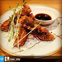 Fried Nori Roll - vegan, gluten free. Instagram by @tae_sty Free Instagram, Fries, Rolls, Healthy Eating, Gluten Free, Beef, Vegan, Awesome, Food