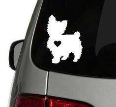 Yorkie Heart Decal Yorkie Decal Dog by SouthernBroadDecals