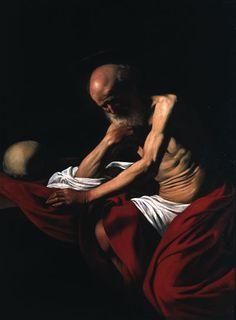 Michelangelo Merisi da Caravaggio (1571-1610), Sant Jeroni penitent. Oli sobre tela, 140,5 x 101,5 cm, c. 1605-1606.