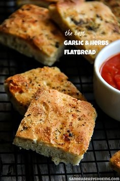 The Best Garlic and Herbs Flatbread recipe with a video tutorial
