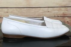 Enzo Angiolini leather loafers flats slip on shoes womens size 7M white   | eBay