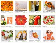 Where Lilacs Bloom: Orange Poppy Wedding: Etsy Inspiration Board...