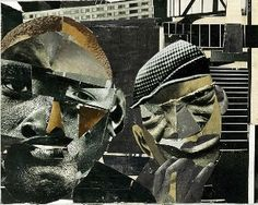 """Collage """"Pittsburgh Memory"""" by Romare Bearden."""
