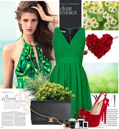 """Green is IN!"" by psylocke18 ❤ liked on Polyvore"