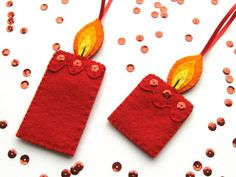How To: Felt Christmas Candle Ornaments