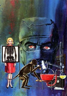 ajourneyroundmyskull: George Wilson, painting for cover of Man With the X-Ray Eyes, 1963 (via Gold Key Comics)
