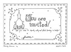 free printable invitation to church on Easter