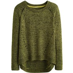 Simply Be Dipped Back Crop Sweater ($35) ❤ liked on Polyvore featuring tops, sweaters, shirts, jumpers, cropped sweater, shirts & tops, green sweater, cropped jumper i crop shirts