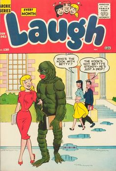 vintage laugh comic book with betty and veronica and the creature from the black lagoon! Vintage Comic Books, Vintage Comics, Comic Books Art, Comic Art, Archie Betty And Veronica, Archie Comics Characters, Josie And The Pussycats, The Kooks, Sabrina Spellman