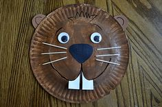 Paper plate ground hogs...