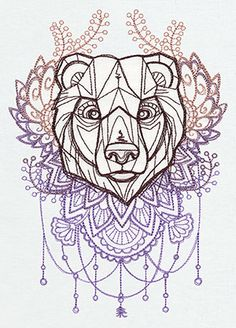 "Balancing solitude and introspection with absolute strength and courage, the bear fiercely protects loved ones and is ""reborn"" in the spring."