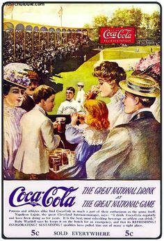 Ejemplo de publicidad clásica de una bebida de refresco reconocida.