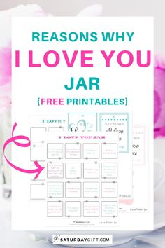 How To Create A Reasons Why I Love You Jar Free Printables Reasons Why I Love You Why I Love You Diy Gifts For Boyfriend