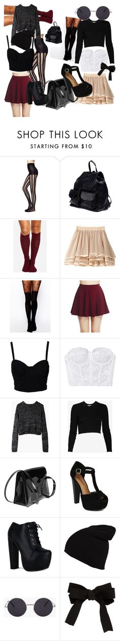 mezclalos o no! by ladyunicorn15 on Polyvore featuring moda, Torn by Ronny Kobo, Proenza Schouler, SELECTED, Wet Seal, ASOS, DailyLook, CO, Valextra and PARENTESI
