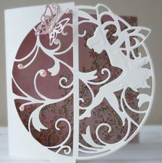 Fae Fairy Silhouette Card Kirigami, Card Making Tutorials, Making Ideas, Tonic Cards, Stepper Cards, Fairy Silhouette, Spellbinders Cards, Birthday Cards For Women, Embossed Cards