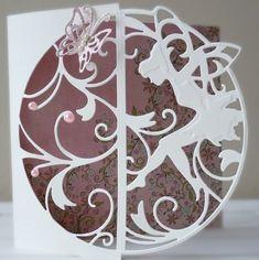 DipsDesigns: Clean & Simple Fairy Silhouette Card