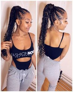 braided hairstyles for black women 30 Popular Goddess Braids Ideas For Ravishing Natural Hairstyles Braided Ponytail Hairstyles, African Braids Hairstyles, African American Hairstyles, Protective Hairstyles, Protective Styles, Hairstyles With Braiding Hair, Cornrow Ponytail, Senegalese Twist Hairstyles, Emo Hairstyles