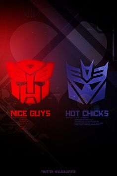NICE GUYS vs HOT CHICKS by ♥ pk, via Flickr #iphone #wallpaper #autobots #decepticons #transformers