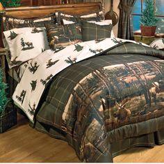 Moose Lodge Bedding - Lodge Comforter Set