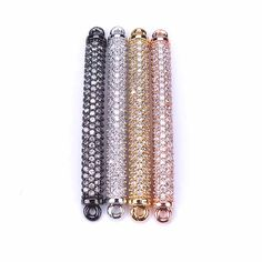 Cheap jewelry components, Buy Quality bracelet connector directly from China connector tube Suppliers: 1pc 4*48mm Micro Pave Cubic Zircon Bracelet Connector Tube Gold Silver Color Copper DIY Jewelry Components Enjoy ✓Free Shipping Worldwide! ✓Limited Time Sale✓Easy Return.