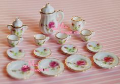 Lot of 15 Black Plum Tea Cup Set NEW Dining Dish Plate ~ & Genuine Monster High dolls/scaris city of frights seriesAbbey ...