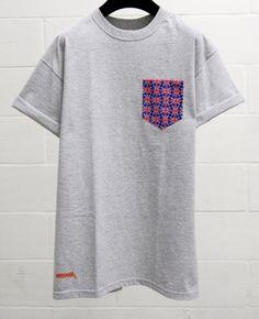Men's Union Flag Pattern Grey Pocket T-Shirt by HeartLabelTees Union Flags, Custom Made T Shirts, Funny Graphic Tees, Colorful Shirts, Pocket Shirts, Menswear, Mens Fashion, Unisex, Grey