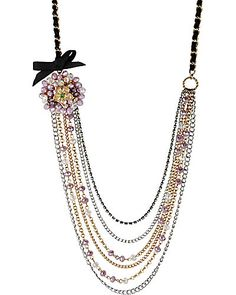 Betsey Johnson Flower Multi-row Necklace