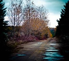 Abandoned road in Saint-Quentin, New-Brunswick, Canada