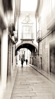 Vimaranes - Rua em Guimarães , Portugal. Guimarães Street, By JJM