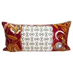 Check out this item at One Kings Lane! Gucci Italian Silk Custom Pillow