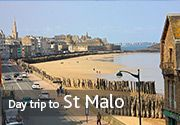 St Malo Delightful destinations for your day trip to France Ferry routes to France With our special day trip offer to France you can sail from Portsmouth, Poole or Plymouth to our ports in Caen, Cherbourg, St Malo, Le Havre or Roscoff and enjoy up to 29 hours away.  Explore our beautiful port towns, go shopping for the day or simply relax and soak up the atmosphere. With options of a same day return or overnight crossings, you can take the whole day. You can even take your