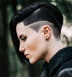 Black Half Shaved Hairstyles 2017 Long Thin Layered