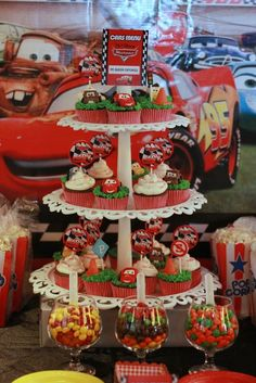 Car cupcakes perfect for JC's third bday