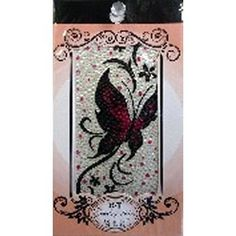Jewellery Stickers - Butterflies: Larg Red