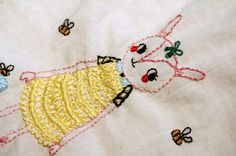 embroidery... haven't really done it much since my childhood. maybe worth trying again? this one by lisa manuels is cute.