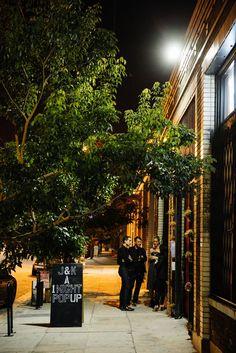 Handpainted sign A Hundred Years venue DTLA | Jen + Kat | Los Angeles Stylish Same Sex Wedding | Jenn Emerling Weddings