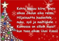 Tulostettavat runokortit joulukortteihisi Very Merry Christmas, Christmas Greetings, Christmas Time, Christmas Crafts, Christmas Decorations, Xmas, Holiday Decor, Hobbies And Crafts, Diy And Crafts