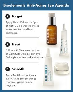 Ready to step up your anti-aging eye agenda? Here's how with an eye area exfoliant! #Bioelements