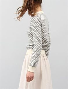 Patrik Ervell Pattern Sweater - Ivory love this clean look! Fashion Moda, Look Fashion, Fashion Beauty, Womens Fashion, Runway Fashion, Fashion Trends, Looks Style, Style Me, Mode Pop