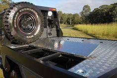 patriot campers dual cab 79 tray - Google Search Toyota 4x4, Toyota Trucks, 4x4 Trucks, Toyota Hilux, Custom Ute Trays, Custom Tool Boxes, Truck Flatbeds, Truck Boxes, Flatbed Truck Beds