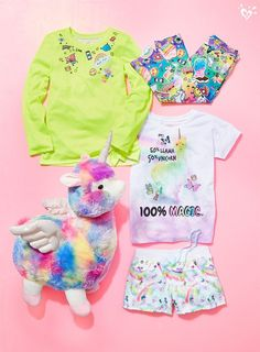 We're welcoming Bo the Llamacorn to the Justice fam in style. Outfits Niños, Kids Outfits, Cool Outfits, Justice Clothing, Justice Shirts, Kids Mma, 10 Year Old Girl, Shop Justice, Unicorn Outfit